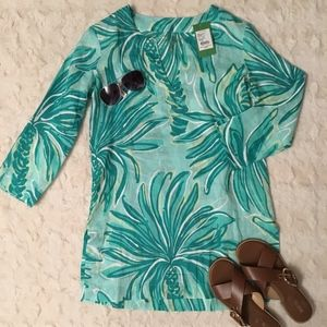 """NWT """"Lilly Pulitzer"""" Marco Island Linen Tunic - S"""